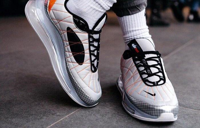 Nike MX 720-818 White Golden CI3871-100 on foot 02