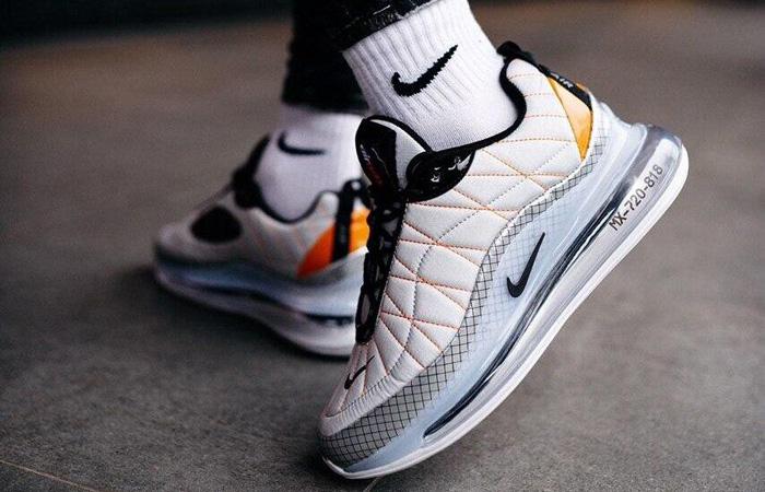 Nike MX 720-818 White Golden CI3871-100 on foot 03