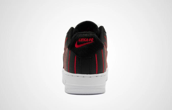 Nike Womens Air Force 1 JEWEL QS Black Red CU6359-001 04