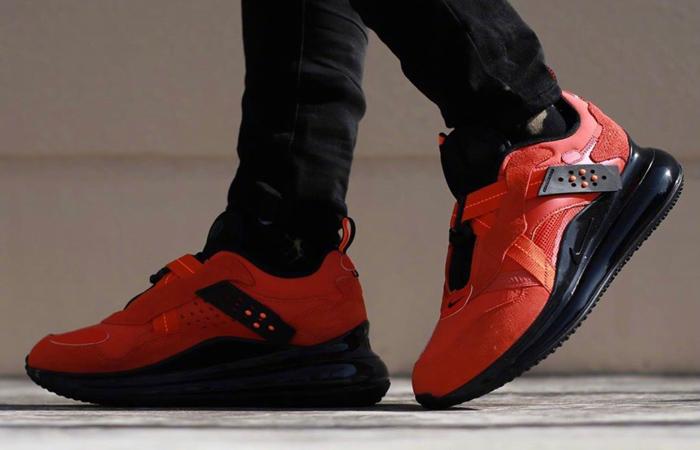 OBJ Nike Air Max 720 Slip Team Orange DA4155-800 on foot 01