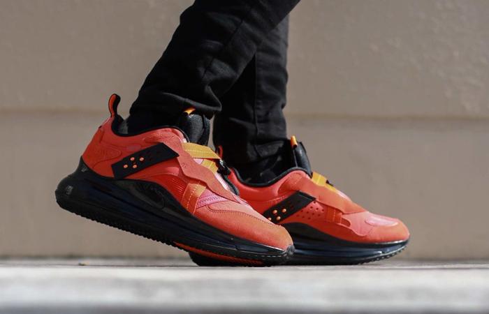 OBJ Nike Air Max 720 Slip Team Orange DA4155-800 on foot 02