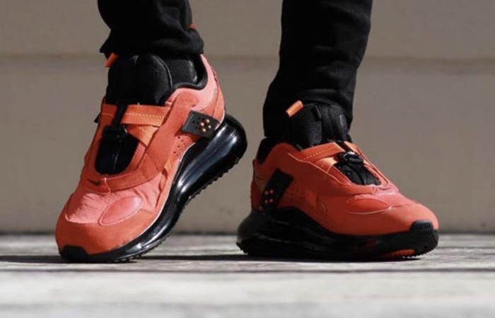 OBJ Nike Air Max 720 Slip Team Orange DA4155-800 on foot 03
