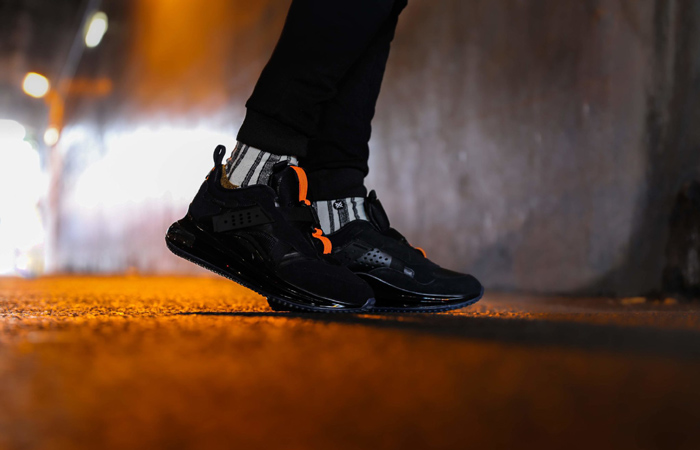 OBJ Nike Air Max 720 Slip Total Black DA4155-001 on foot 01
