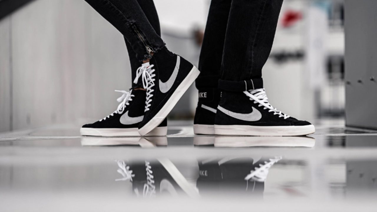Tipo delantero nada pedal  The Look Of Nike Blazer Mid 77 Black Suede White Will Force You To Buy One  – Fastsole