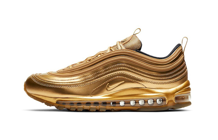 The Luxurious Look Of Nike Air Max 97 Gold Medal You Have Never Seen Before ft