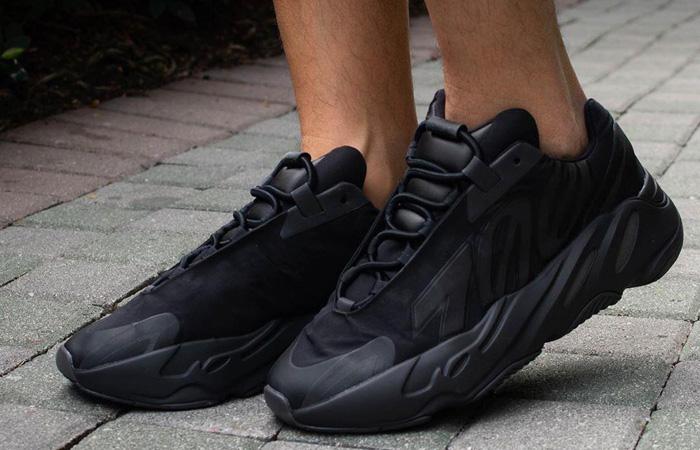 adidas Yeezy Boost 700 MNVN Core Black FV4440 on foot 02