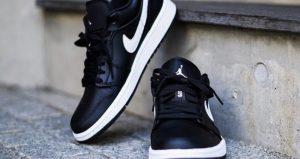 An On Foot Look At The Nike Womens Air Jordan 1 Low Black White