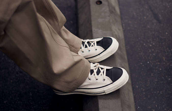 Fear of God Converse Chuck 70 Hi Off White 167955C on foot 02