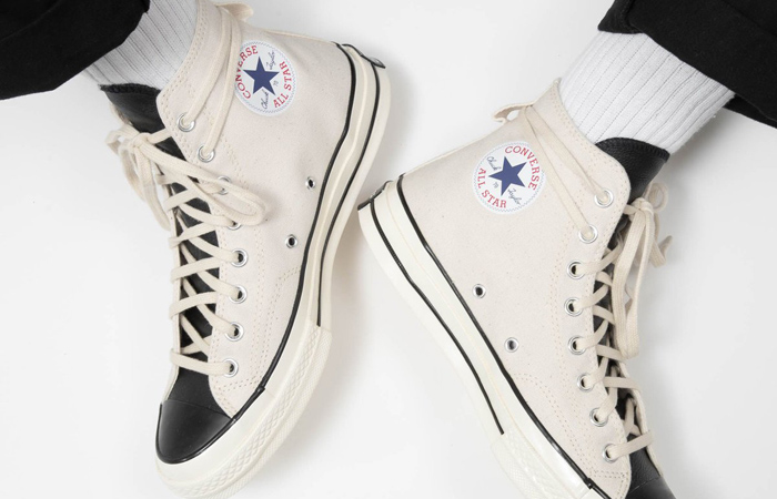 Fear of God Converse Chuck 70 Hi Off White 167955C on foot 03