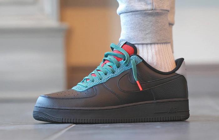 Nike Air Force 1 07 LV8 Black Obsidian CK4363-001 on foot 01