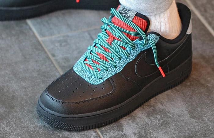 Nike Air Force 1 07 LV8 Black Obsidian CK4363-001 on foot 02
