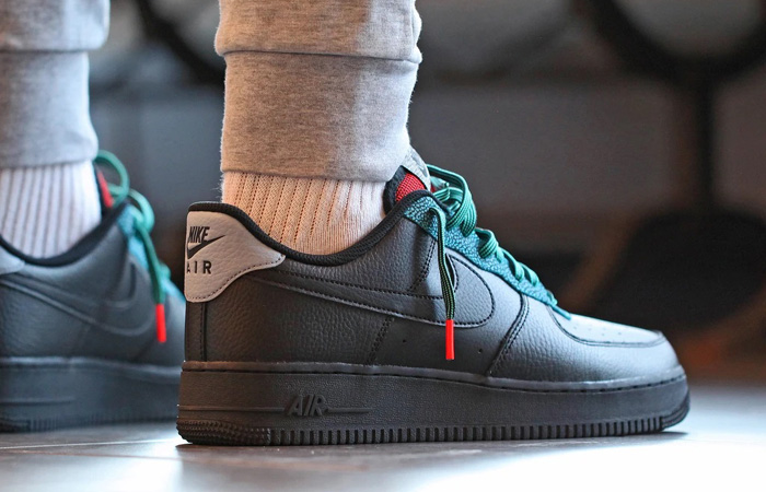 Nike Air Force 1 07 LV8 Black Obsidian CK4363-001 on foot 03