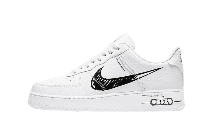 Nike Air Force 1 Low Black Sketch White CW7581 101 – Fastsole