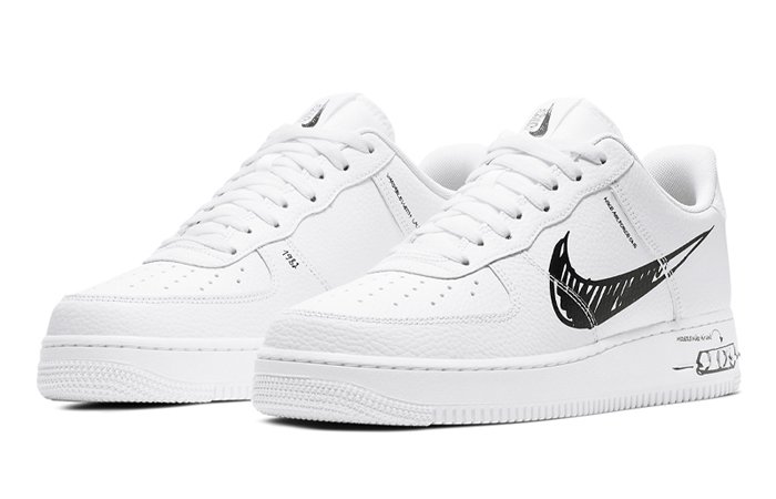 Nike Air Force 1 Low Black Sketch White CW7581-101 02