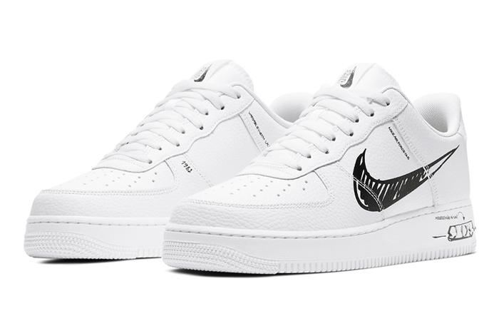 Nike Air Force 1 Low Black Sketch White CW7581-101 02