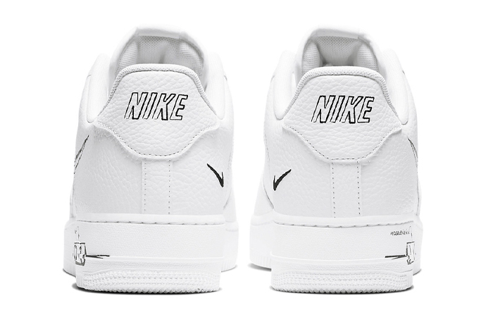 Nike Air Force 1 Low Black Sketch White CW7581-101 05