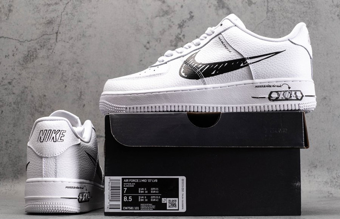 Nike Air Force 1 Low Black Sketch White CW7581-101 06