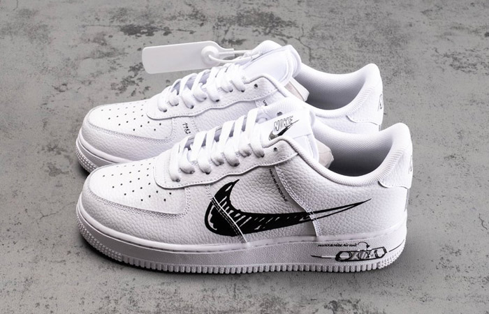 Nike Air Force 1 Low Black Sketch White CW7581-101 07