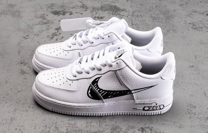 Nike Air Force 1 Low Black Sketch White CW7581-101 07