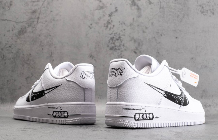 Nike Air Force 1 Low Black Sketch White CW7581-101 08