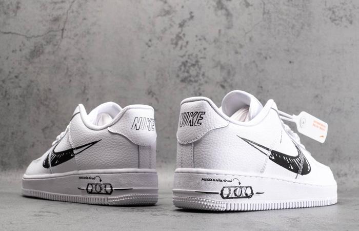 Nike Air Force 1 Low Black Sketch White CW7581-101 08
