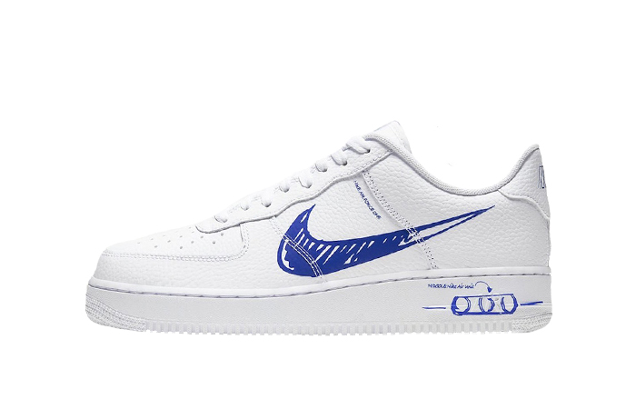 Nike Air Force 1 Low Blue Sketch White CW7581-100 01