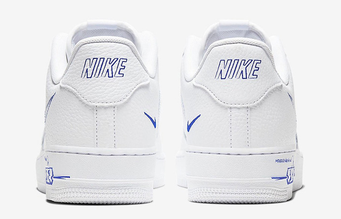 Nike Air Force 1 Low Blue Sketch White CW7581-100 04