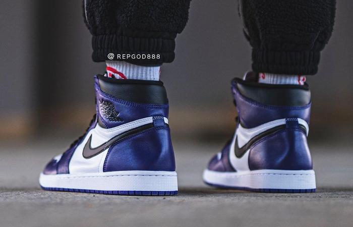 Nike Air Jordan 1 Purple 555088-500 on foot 03