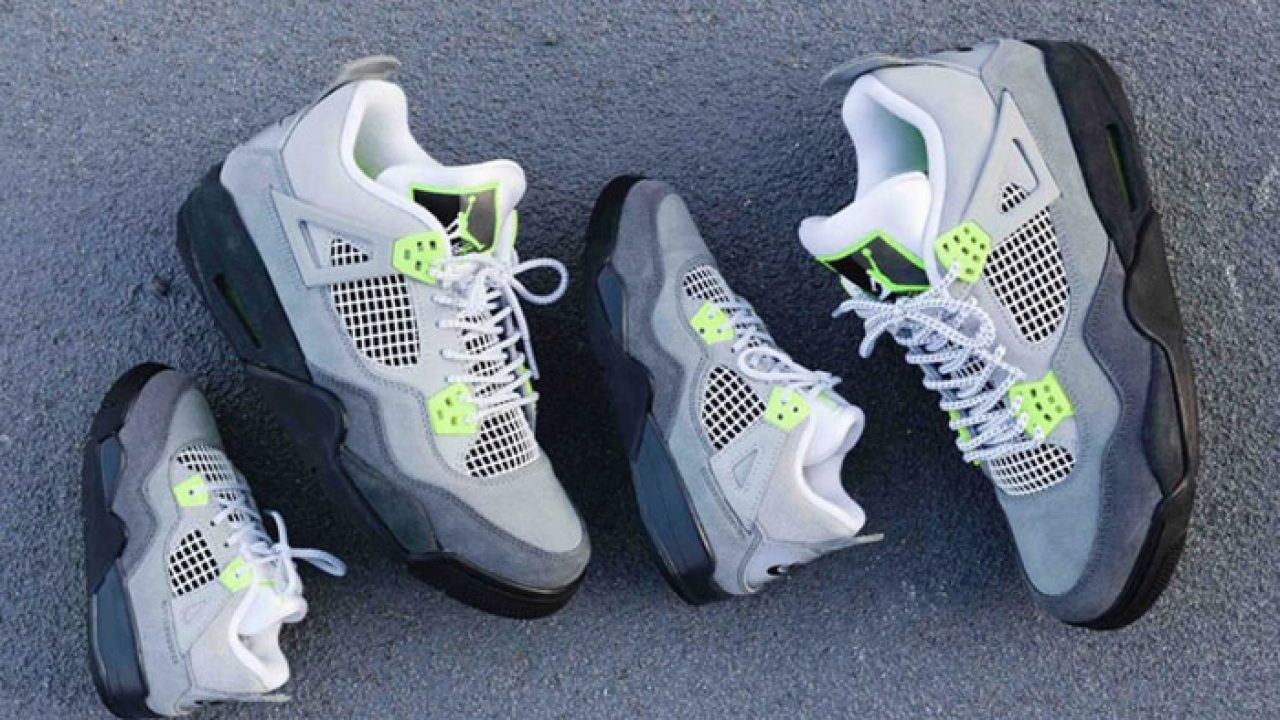 Nike Air Jordan 4 Retro LE Neon Grey Comes As A Family Pack