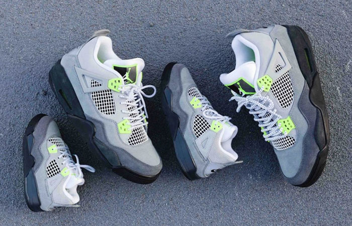 Nike Air Jordan 4 Retro LE Neon Grey Comes As A Family Pack ft