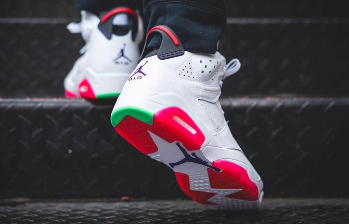 Nike Air Jordan 6 Hare on foot 03