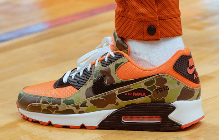 Nike Air Max 90 Reverse Duck Camo Red CW6024-600 on foot 01