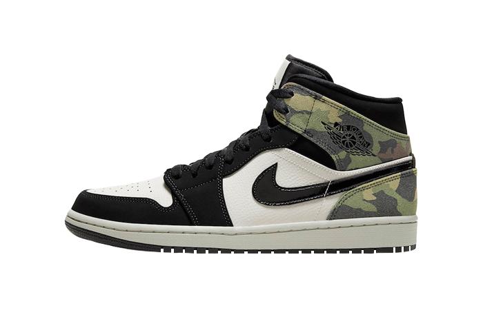 Nike Jordan 1 Mid Green Camo Black