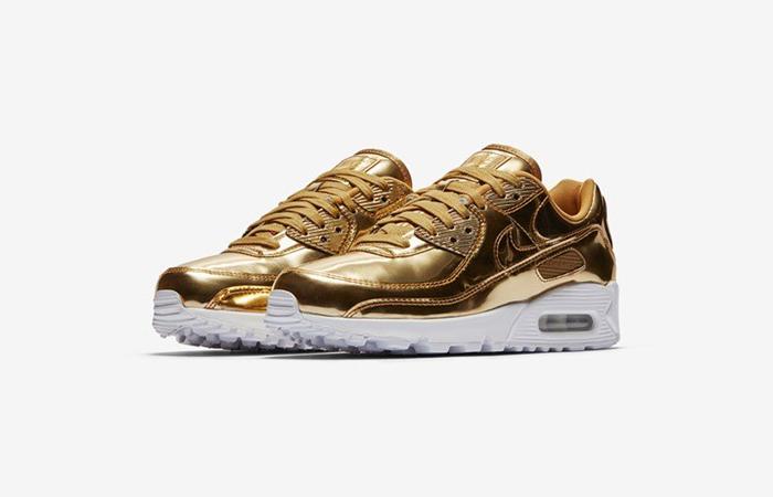 Nike Womens Air Max 90 SP Metalic Gold CQ6639-700 02
