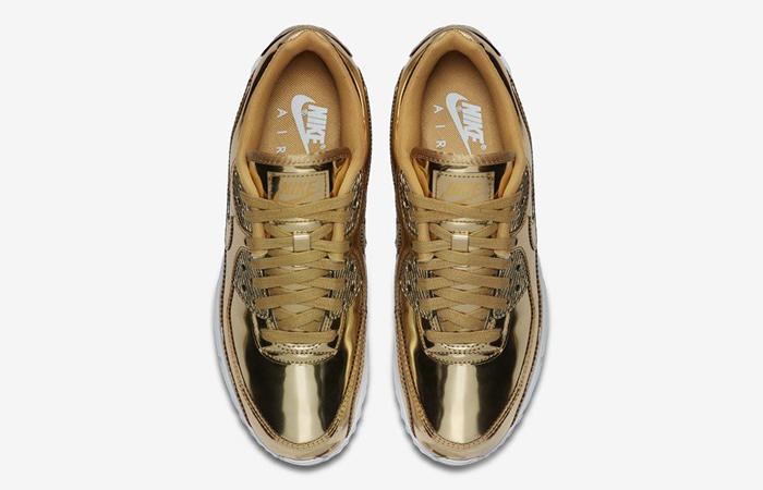 Nike Womens Air Max 90 SP Metalic Gold CQ6639-700 04