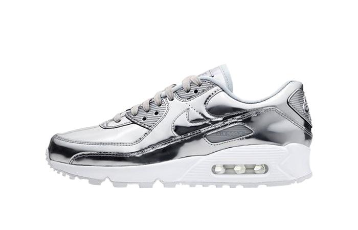 Nike Womens Air Max 90 SP Metalic Silver CQ6639-001 01