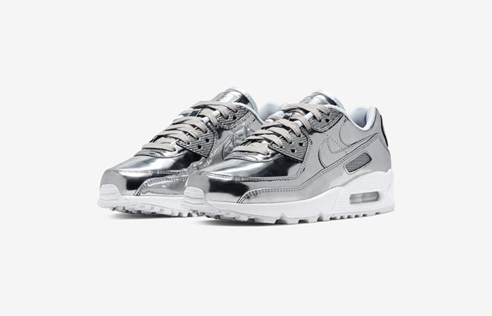 Nike Womens Air Max 90 SP Metalic Silver CQ6639-001 02