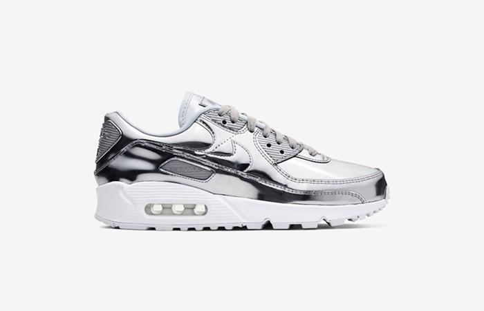 Nike Womens Air Max 90 SP Metalic Silver CQ6639-001 03