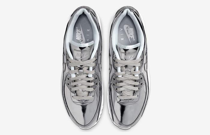 Nike Womens Air Max 90 SP Metalic Silver CQ6639-001 04