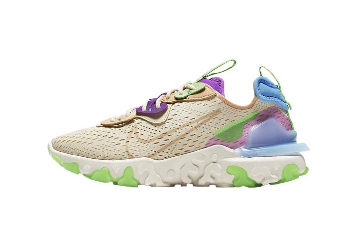 Nike Womens React Vision Beige Purple CI7523-200 01