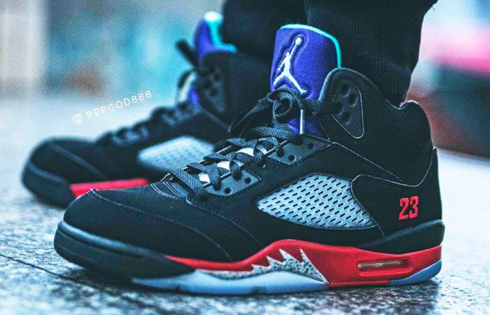 On Foot Look At The Air Jordan 5 Top 3 ft