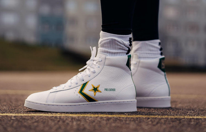 On Foot Look At The Converse Pro Leather Mid Celtics ft