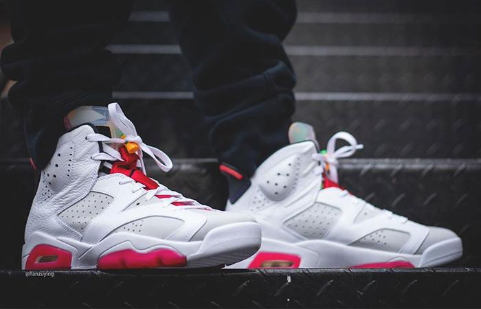 "On Foot Look At The Nike Air Jordan 6 ""Hare"" ft"