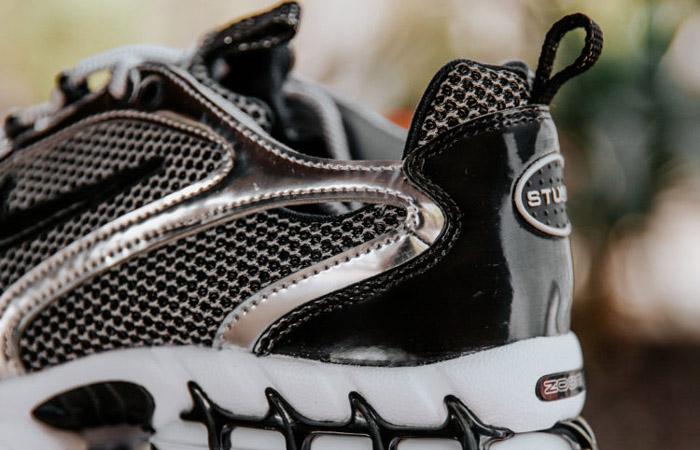 Stussy Nike Air Zoom Spiridon Caged Black Metalic Silver CU1854-001 04