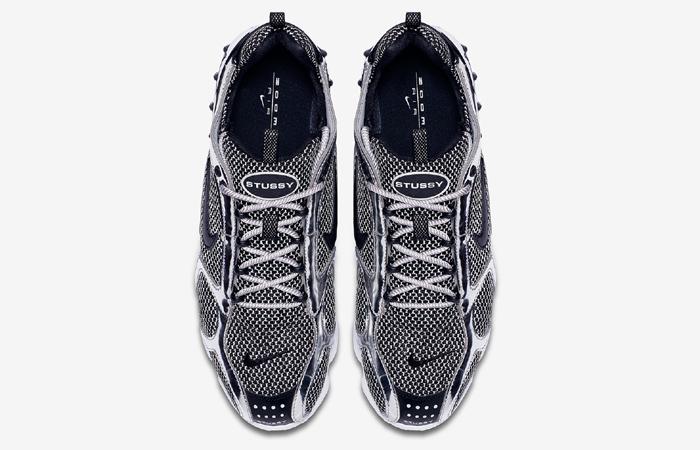 Stussy Nike Air Zoom Spiridon Caged Black Metalic Silver CU1854-001 07