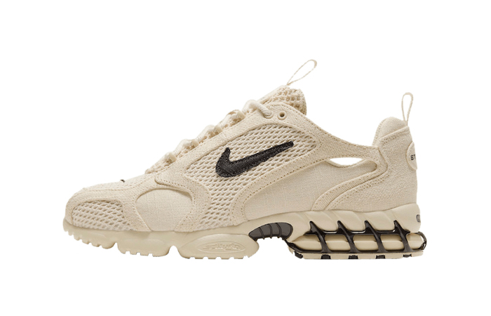 Stussy Nike Air Zoom Spiridon Caged Sand CQ5486-200 01