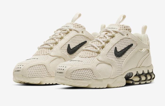 Stussy Nike Air Zoom Spiridon Caged Sand CQ5486-200 03