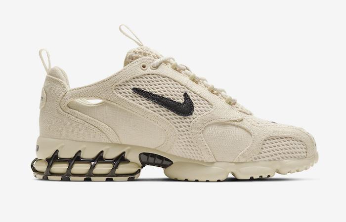 Stussy Nike Air Zoom Spiridon Caged Sand CQ5486-200 04