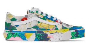 The Kenzo Vans Old Skool Experiences Floral Painting! 02