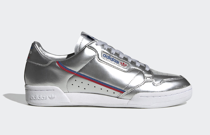 The New adidas Continental 80 Comes With A Metalic Silver Upper ft